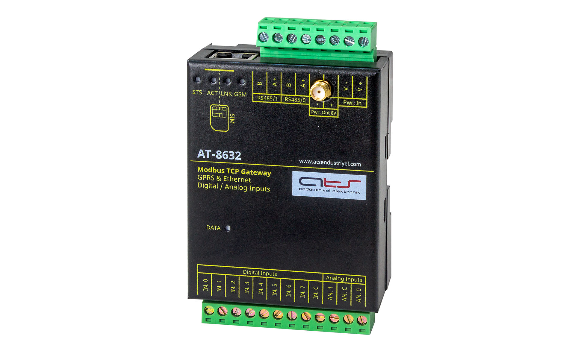 AT-8632 Modbus TCP Gateway